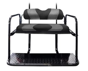 Picture of k01-015-103-precedent-two-tone-cushions-rear-flip-seat-black-w-dk-gray-carbon-fiber-wave-pattern
