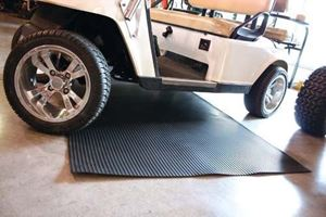 "Picture of 55530 4' x 8' Black Ribbed Garage Mat 1/8"" + Thickness"