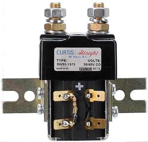 Picture of 55593 Solenoid; 36/48v Curtis, SW80 w/Bracket/Resister/Diode