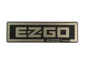 Picture of 50470 Nameplate (EZGO/Textron) Gold EZ 08-up TXT