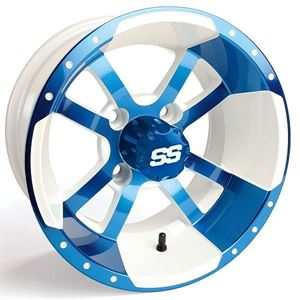 Picture of 41118 WHEEL, 10X7 STORM TROOPER BLUE/WHITE 3+4 SS CAP
