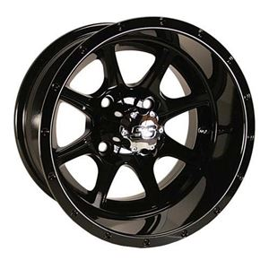 Picture of 1728 WHEEL, 12X7 TREMOR, 3+4 SS GLOSS BLACK