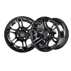 Picture of 19-072 Mirage 12x7 Black Wheel with Center Cap
