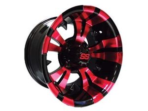 Picture of 41054 (19-166)WHEEL, 12X7 VAMPIRE SS PNTD RED/BLACK 2.5+4.5 est