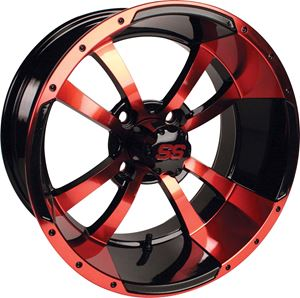 Picture of (19-122)WHEEL, 14X7 STORM TROOPER SS RED W/ BLACK