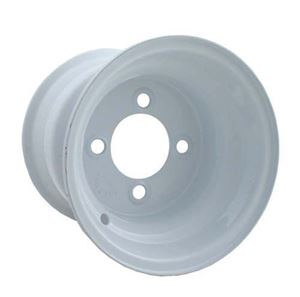 Picture of 40527 8x3.75 White Steel Wheel, Centered