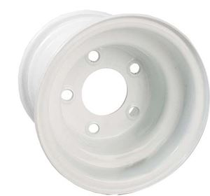 Picture of 40529 8x3.75 White Steel Wheel, Centered (5 Hole)