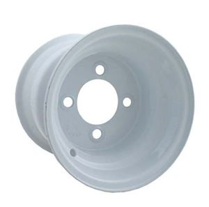 Picture of 40533 8x3.75 White Steel Wheel, Centered