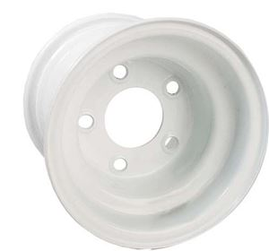 Picture of 40535 8x5.375 White Steel Wheel, Centered (5 Hole)