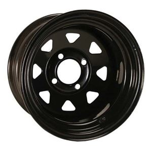 Picture of 55049 (19-078)WHEEL, 12X7 OFFSET; SPOKED BLACK W/STEM