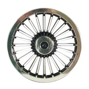 "Picture of 4647 WHEEL COVER, 8"" TURBINE BLACK/CHROME"
