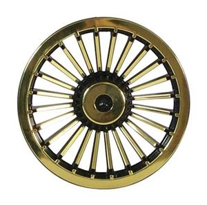 "Picture of 4648 WHEEL COVER, 8"" TURBINE BLACK/GOLD"
