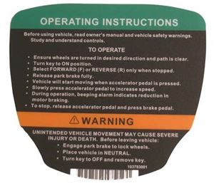 Picture of 8535 Decal (Operating inst) CC E 12-up Prec