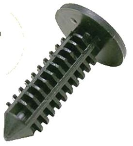 Picture of 13013 BLACK PLASTIC XMAS TREE PUSH RIVET, (10 BG)