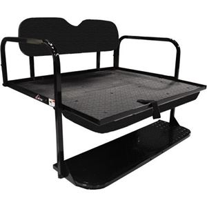 Picture of GTW MACH-1 (STEEL) REAR FLIP SEAT, DS BLACK CUSHIONS (00-up)