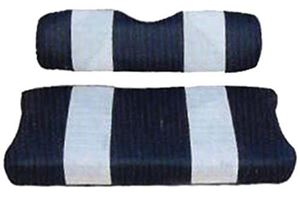 Picture of 20044 SEAT CUSHION SET,NAVY/WHTE,FRONT,YAM G11/G16-G22