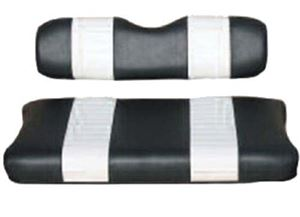 Picture of 20006 SEAT COVER SET,BLK/WHTE,FRONT,YAM G2/G9