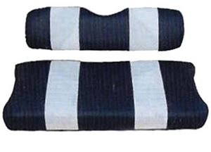 Picture of 20038 SEAT COVER SET,NAVY/WHTE,FRONT,YAM G2/G9