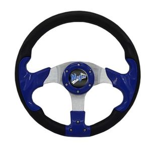 "Picture of 06-006 Madjax 13"" Blue Razor Steering Wheel"