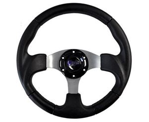 "Picture of 06-007 Madjax 13"" Black Razor Steering Wheel"