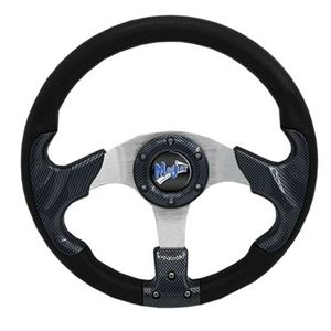 "Picture of 06-009 Madjax 13"" Carbon Razor Steering Wheel"