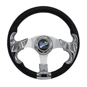 "Picture of 06-010 Madjax 13"" Chrome Razor Steering Wheel"