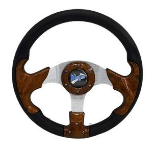 "Picture of 06-011 Madjax 13"" Woodgrain Razor Steering Wheel"