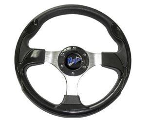 """Picture of 06-014 Madjax 13"""" Black Ultra Steering Wheel"""