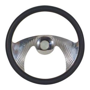 Picture of 20418 STEERING WHEEL, BILLET MUSTACHE BLACK