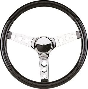 Picture of 31575 Grant 838-BH Classic 3-Spoke Chrome Steering Wheel