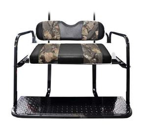 Picture of K01-16-155 Madjax Genesis 150 Custom Black/Camo Rear Seat for the Club Car DS