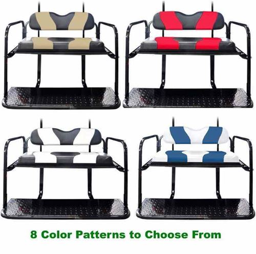 Picture of KIT-02-Custom Madjax Genesis 150 Custom Color Wave Design Cushions with Rear Seat for the Club Car DS