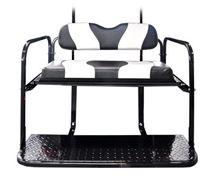 Picture of K01-016-14 CLUB CAR WAVE DESIGN TWO TONE REAR FLIP SEAT KIT BLACK W/ WHITE STRIPE