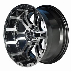 Picture of 19-090 OMEGA 12x7 Machined/Black Wheel