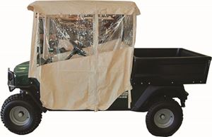 "Picture of 61681 Enclosure 3 sided Over The Top Club Car Carryall I & II 56"" Beige Vinyl"