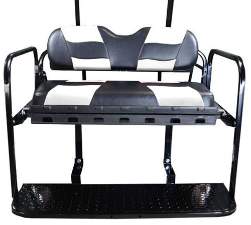 Picture of K01-016-123 DS REAR FLIP SEAT W/RIPTIDE BLK/WHT 2-TONE SEAT CUSHIONS