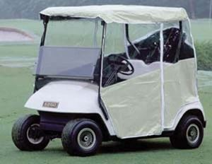 Picture of 14056 E-Z-GO TXT 2-Passenger Red Dot 3-Sided White Enclosure (Years 1994-Up)