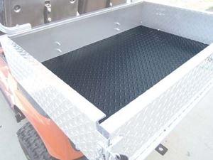 Picture of 28728 Diamond Plate Black Rubber Cargo Box Mat
