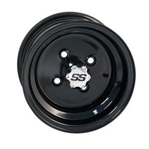Picture of 55118 WHEEL, 10X6 STD GLOSS;BLK 4 HOLE W/STEM