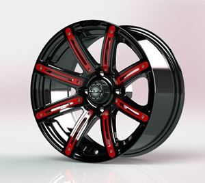 Picture of 19-069-RED Red Inserts for Illusion 12x7 Wheel