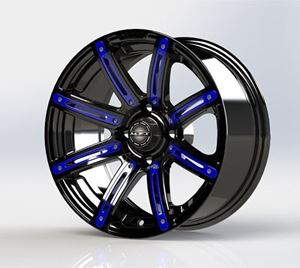 Picture of 19-070-BLU Blue Inserts for Illusion 14x7 Wheel