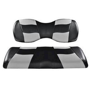 Picture of 10-193 RIPTIDE Blk/Sil 2-Tone Frnt Seat Covrs EZ-Go TXT/RXV