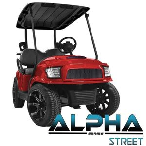Picture of Red Alpha (PREC) Front Cowl w/ Street Grill & Headlights