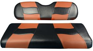 Picture of 10-126  Madjax Riptide Black/Moroccan Two-Tone EZGO TXT Front Seat Covers (Fits 1994.5-Up)