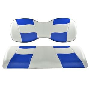 Picture of 10-163  Madjax Riptide White/Blue Two-Tone Genesis 150 Rear Seat Covers