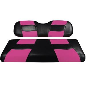 Picture of RIPTIDE Black/Pink 2Tone Front Seat Cvrs E-Z-Go TXT/RXV