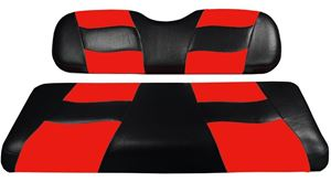 Picture of 10-114  Madjax Riptide Black/Red Two-Tone Club Car Precedent Front Seat Covers (Fits 2004-Up)