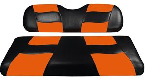 Picture of RIPTIDE Black/Orange Two-Tone Front Seat Covers for CC Prec