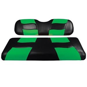 Picture of RIPTIDE Blk/LimeCool Green Two-Tone Front Seat Covers DS