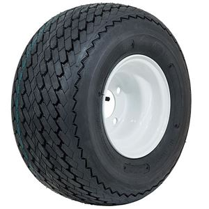 Picture of A19-140 GTW Topspin Tire 18x8.5-8 & 8x7 Centered White Steel Wheel Assembly